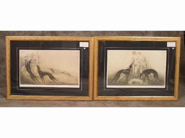 192: 2 - Framed prints by Louis Icart