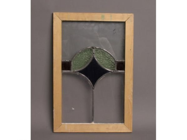 20: Framed stained glass, 19T x 12W