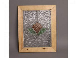 Framed stained glass, 18T x 14W