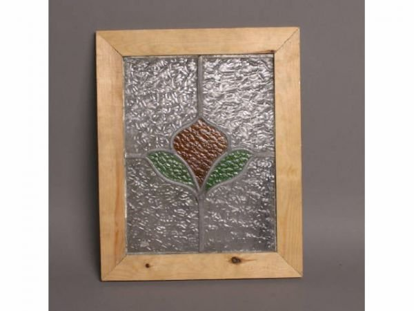 22: Framed stained glass, 18T x 14W