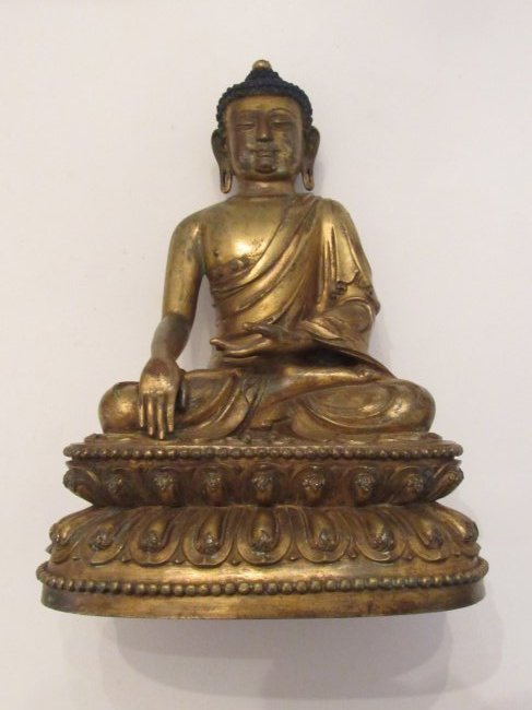 Yongle Gilt Bronze Seated Buddha Ming Dynasty