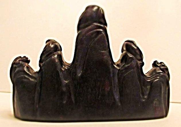 5-Peaked Zitan Brushrest with Mythical Beasts - 2