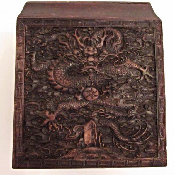 Imperial Dragon Rectangular Covered Zitan Box - 4