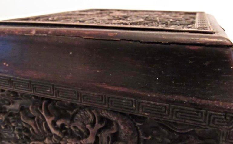 Imperial Dragon Rectangular Covered Zitan Box - 6