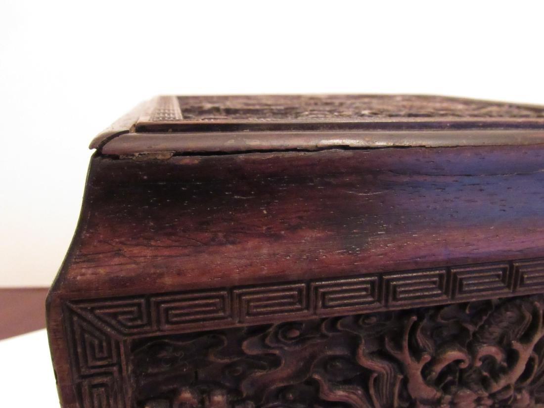 Imperial Dragon Rectangular Covered Zitan Box - 7