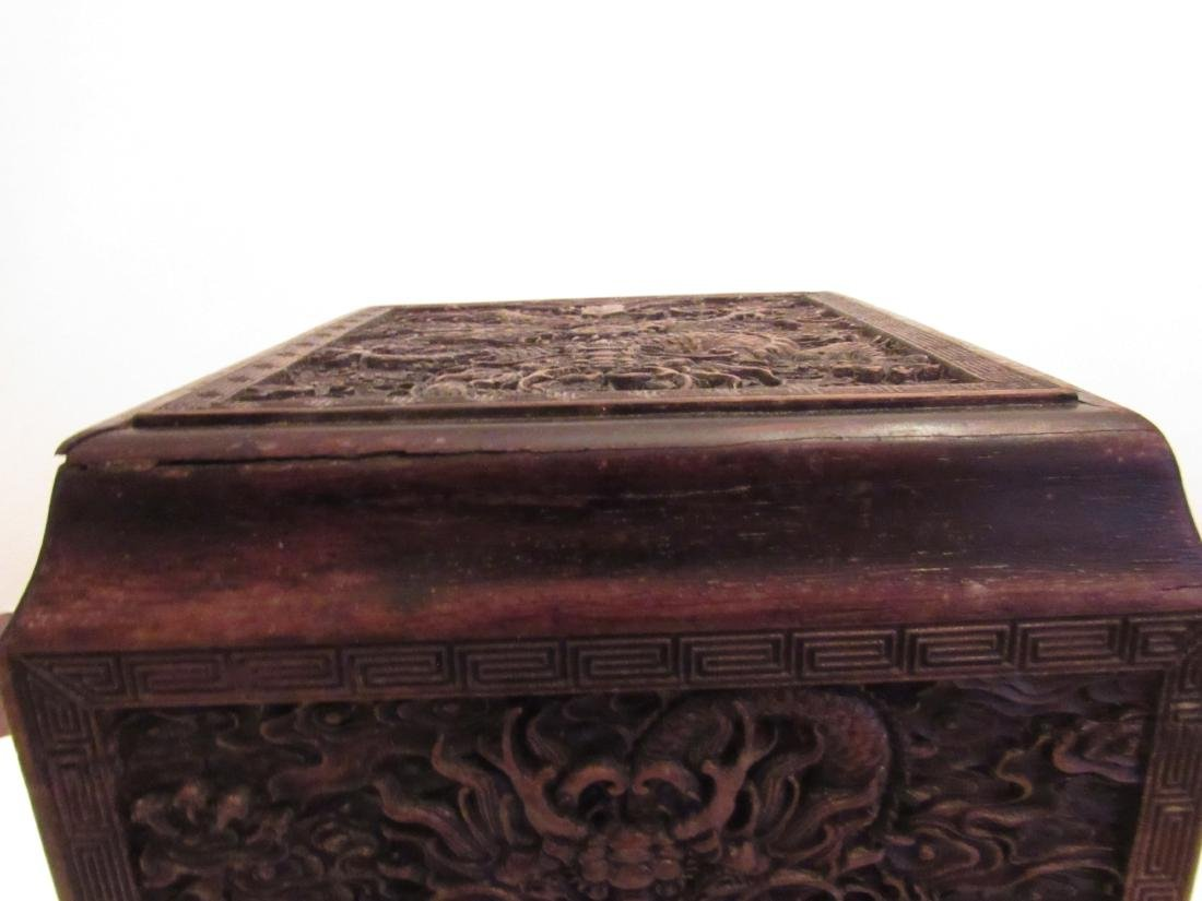 Imperial Dragon Rectangular Covered Zitan Box - 8