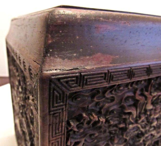 Imperial Dragon Rectangular Covered Zitan Box - 9