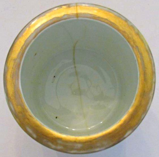 Porcelain Brushpot Classical Landscape Motif - 5