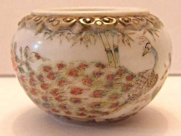 Chinese Peking Glass Bowl with Peacock and Floral Motif - 3