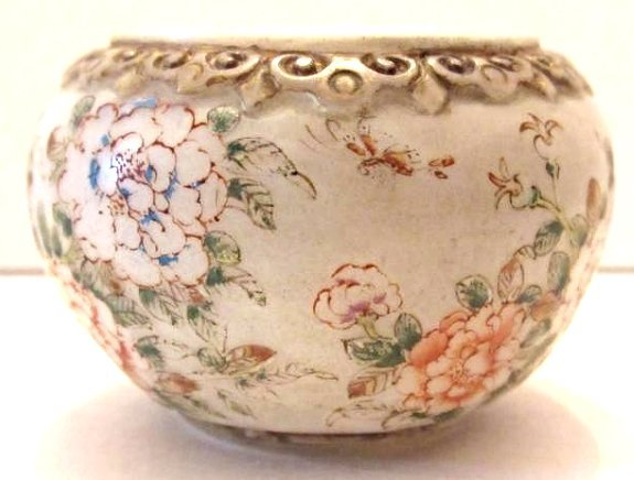 Chinese Peking Glass Bowl with Peacock and Floral Motif - 4