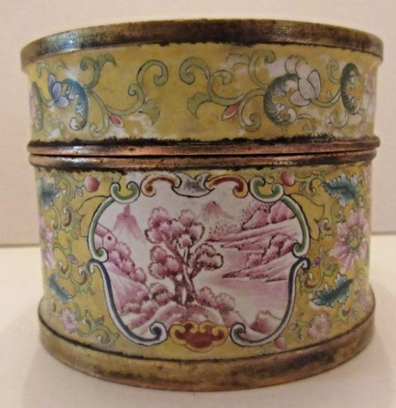 Enamel Covered Box with Western Beauties - 7