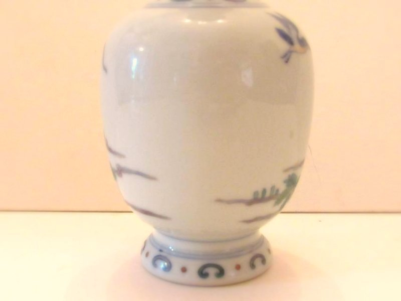 Porcelain Vase with Duck and Lotus Motif - 4