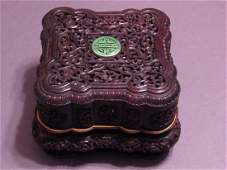 Zitan Wooden Carved Box