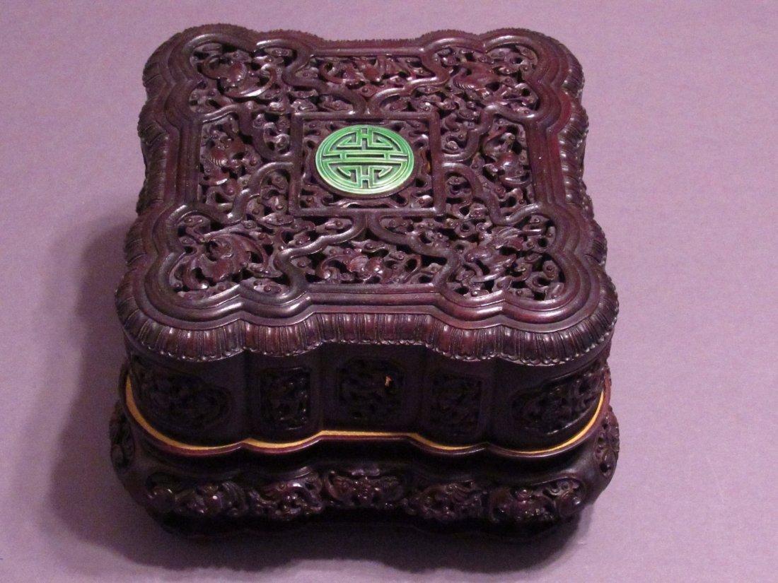 Zitan Wooden Carved Box