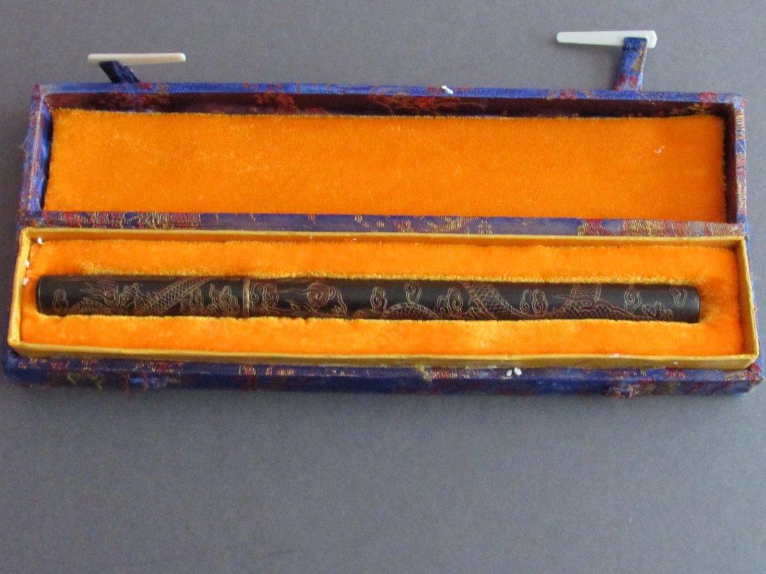 Chinese Calligraphers Scholar's Lacquer Writing Brush