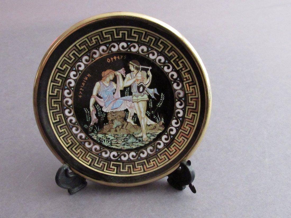 Greek Porcelain Dish of Orpheus and Euridice