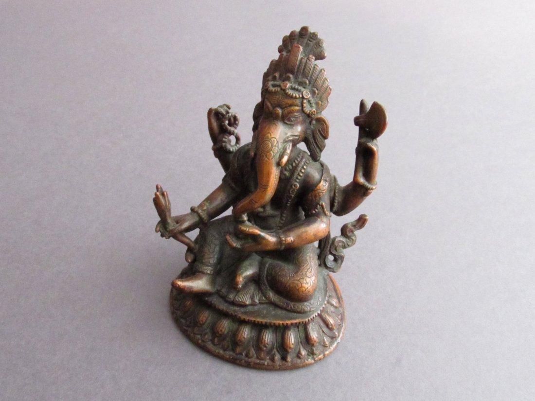 Sino - Tibetan Bronze Sculpture of Ganesha