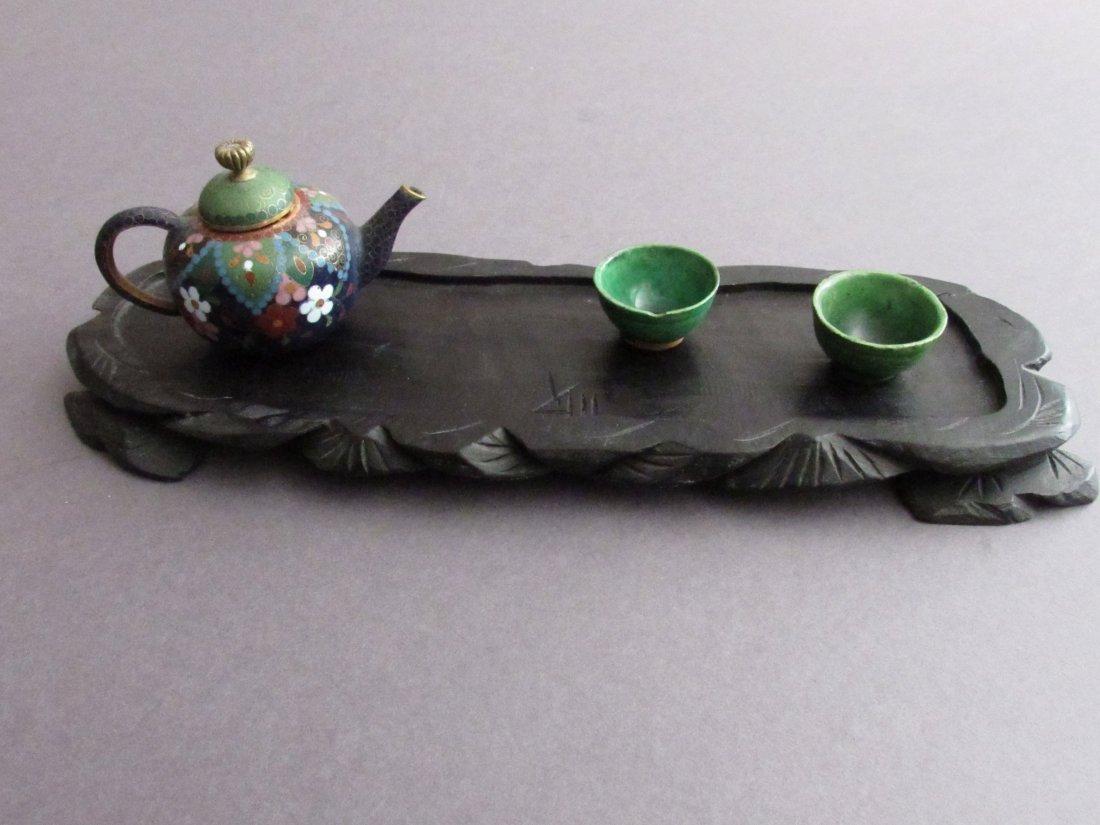 Diminutive Chinese Canton Enamel Tea Set