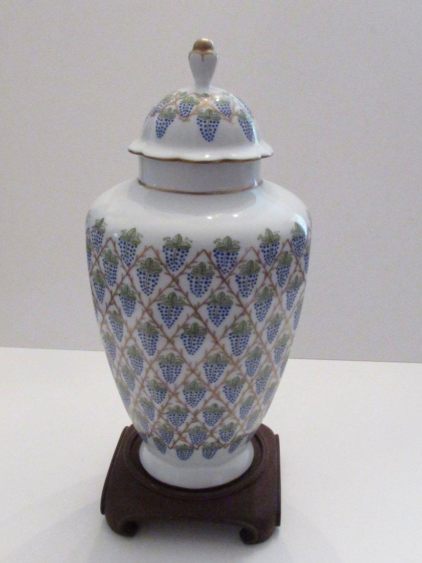 Important Vintage Limoges Vase, St. Pierre Grape