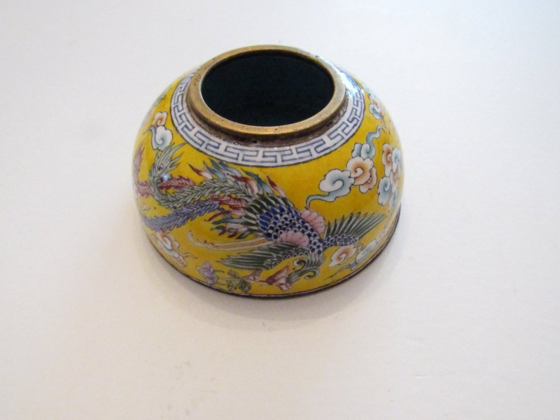 Very Good Old Chinese Canton Enamel Water Pot