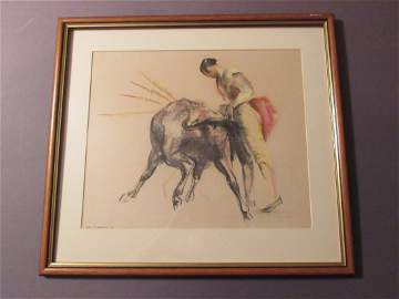 Spanish Bullfighter and Bull by John Skeaping, RA