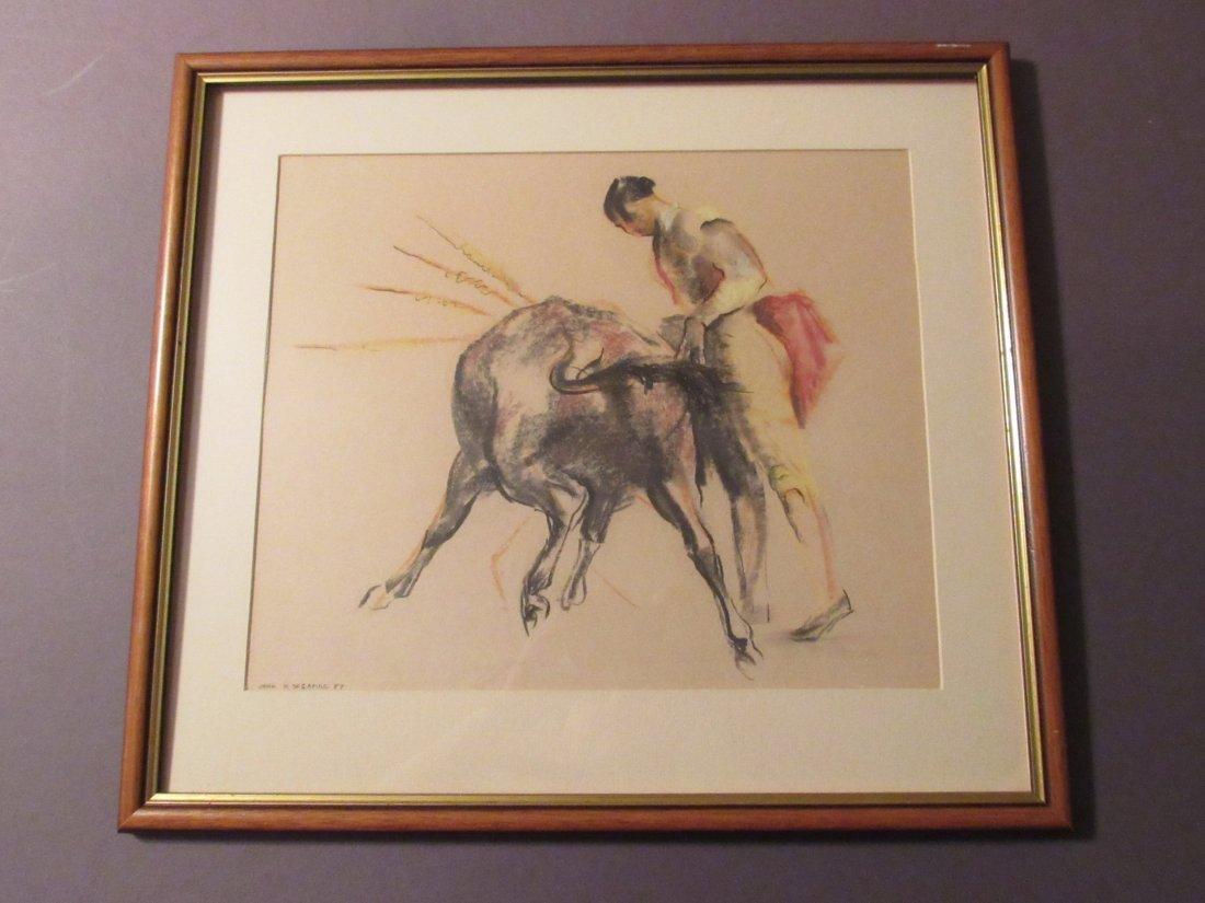 Spanish Bullfighter and Bull by John Skeaping, RA