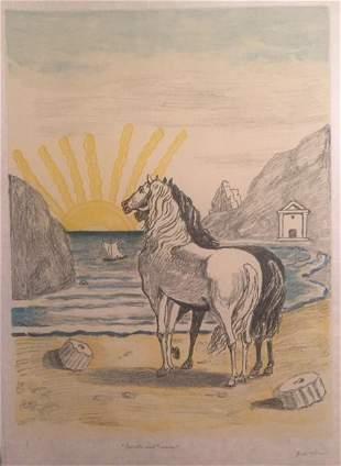 Cavalli mediterranei 1972 by Giorgio De Chirico