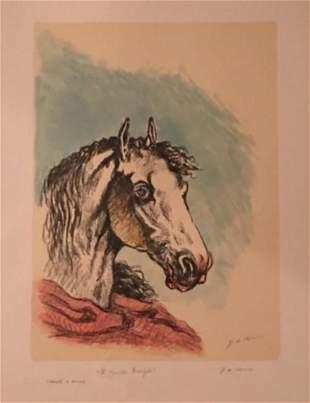 Il cavallo Bucefalo 1969 by Giorgio De Chirico
