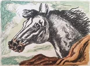 Il cavallo Lampo 1971 by Giorgio De Chirico