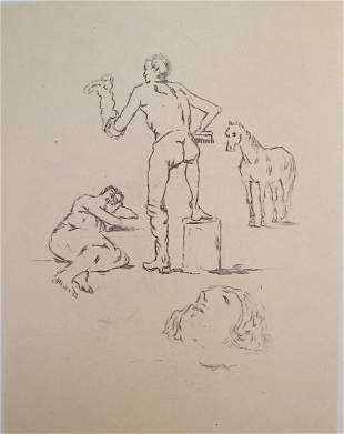 Lattendente 1971 by Giorgio De Chirico