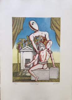 Oresta e Pilade 1970 by Giorgio De Chirico