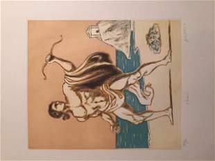 Teseo 1970 by Giorgio De Chirico