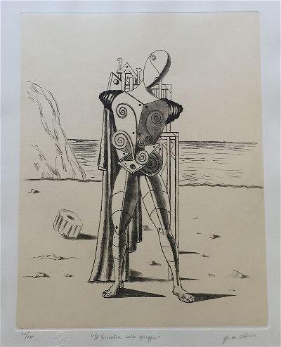 Giorgio de Chirico originial Etching