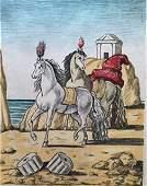 I cavalli di Achille 1971 by Giorgio De Chirico