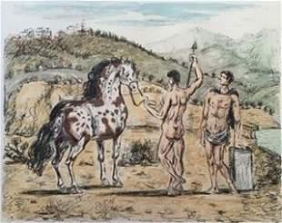 I Dioscuri 1969 by Giorgio De Chirico