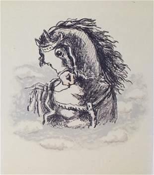 Il destriero d'Achille, 1971 by Giorgio De Chirico