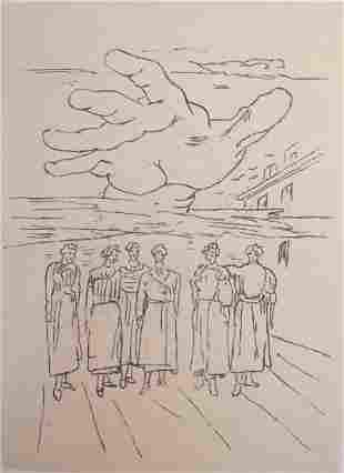 La mano misteriosa 1972 by Giorgio De Chirico