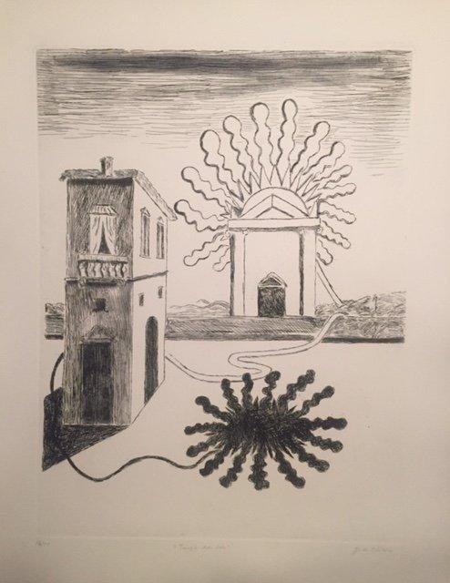 Tempio del Sole, 1969 by Giorgio De Chirico