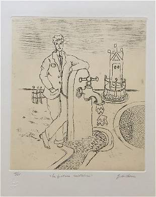 La fontana misteriosa 1971 by Giorgio De Chirico