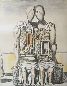 Gli Archeologi 1970 by Giorgio De Chirico