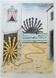Sole e mare 1969 by Giorgio De Chirico