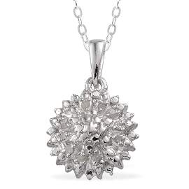 Diamond Pendant with 20 inch sterling silver