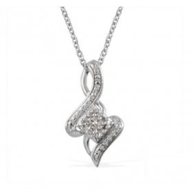 Diamond Pendant With 20 Inch Chain