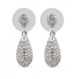 Diamond Accent Earrings Tdiawt 0.04 Cts