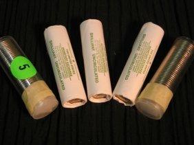 5: 5 rolls of louisiana nickles - 3 from the monetary e