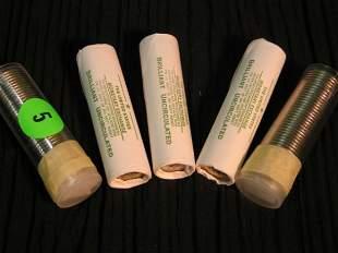 5 rolls of louisiana nickles - 3 from the monetary e