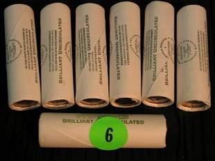 6 rolls 2005, 1 2003 Jefferson Nickles