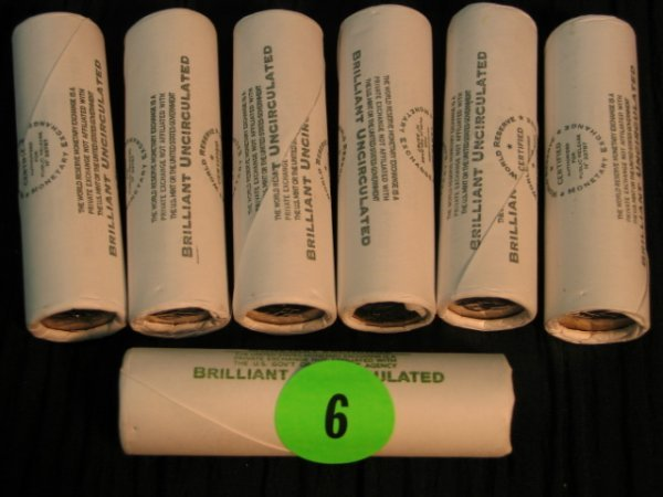 6: 6 rolls 2005, 1 2003 Jefferson Nickles