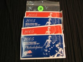 10: 2- 2005 UNC Proof Sets both P & D included.