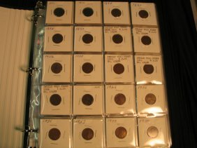 11: 1 Book of coins - includes 13 Indian pennies, 2 + p